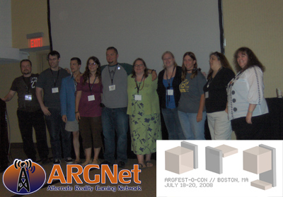 ARGNet Writers pose at ARGFest 2008